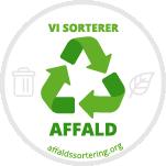 Vi støtter affaldssortering